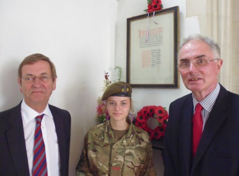 The Lord Lieutenant for Surrey, Michael More-Molyneux, Cadet Isobel ... and