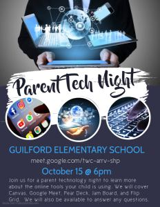 Advertises Parent Tech Event