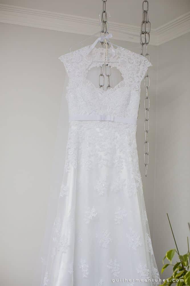 Fotografia de Casamento Luana e Alysson vestido da noiva