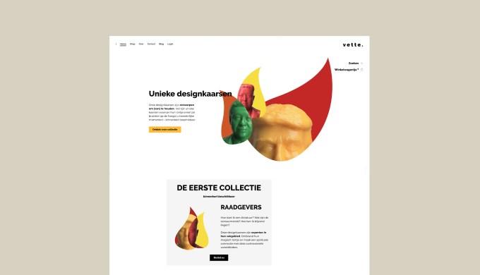 designkaarsen vettekaarsen webiste