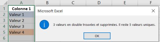 Doublons Supprimés Excel