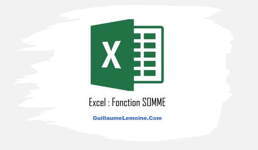 Fonction Excel SOMME