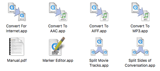 Les applications qui accompagnent Call Recorder (sur Mac)