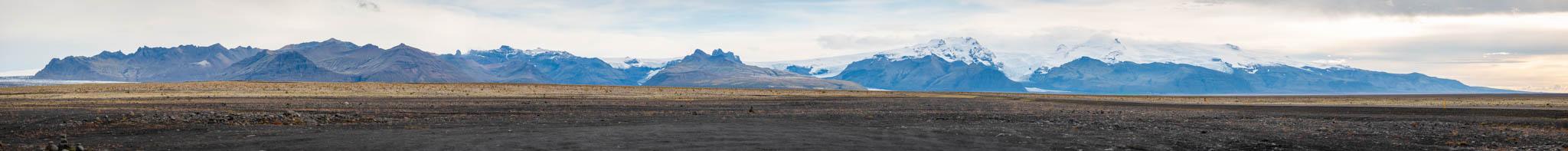 Reportaje fotográfico para Tierras Polares en Islandia - Panorámica montada a partir de 22 fotografías