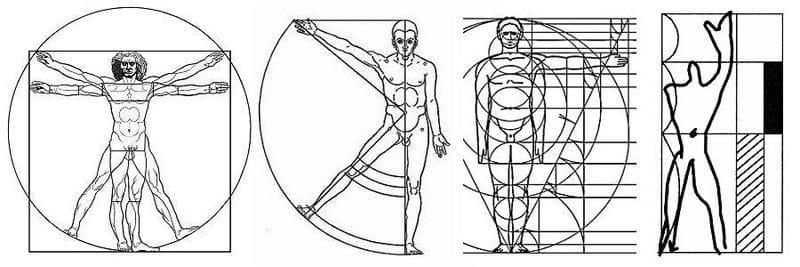 Proporciones del cuerpo humano - las medidas de la arquitectura