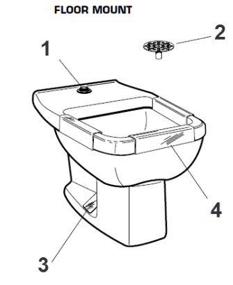 wall hung clinic service sink parts catalog