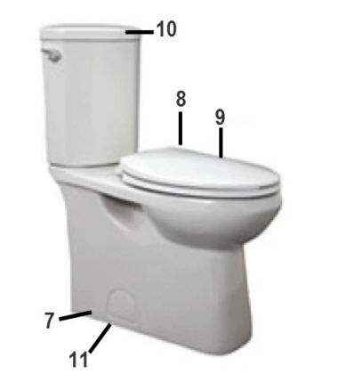 Jacuzzi Toilet Parts Enredada