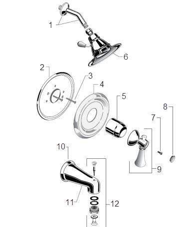 shower faucet parts catalog