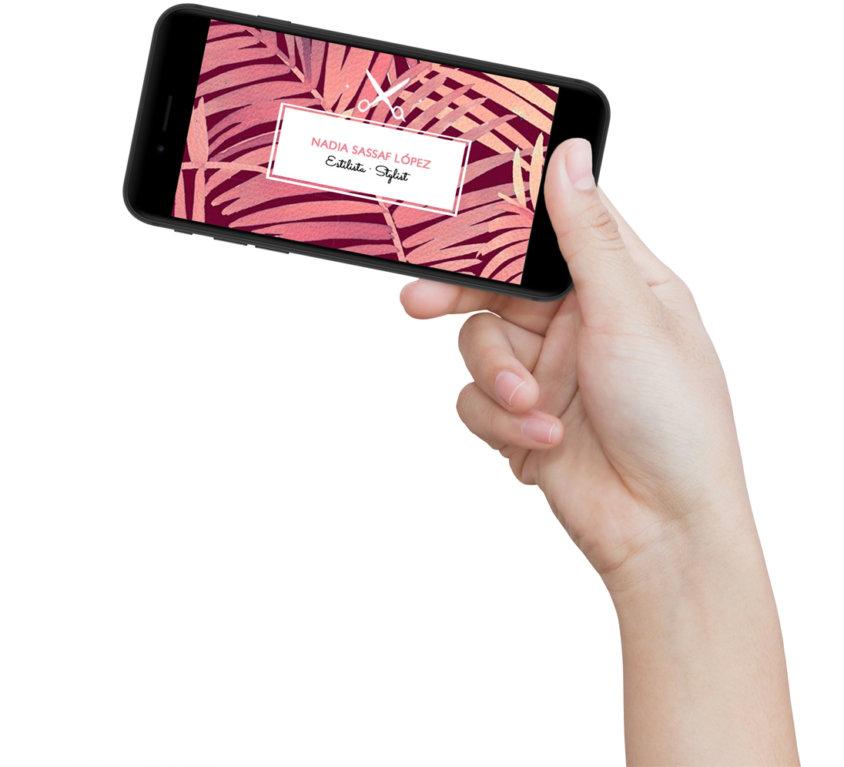 Diseño tarjeta de visita «Hair & Makeup Stylist»