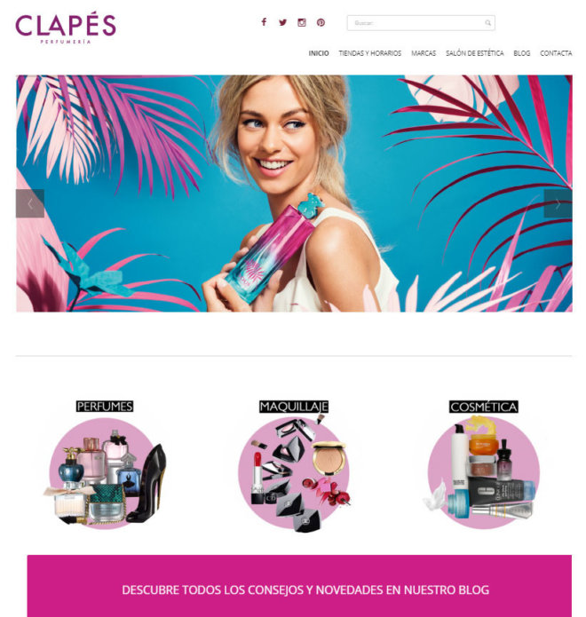 www.perfumeriasclapes.es