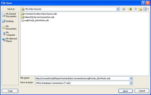 Exportar el fichero de conexión desde Excel 2007