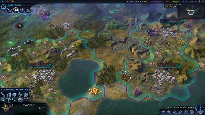 Civilization Beyond Earth mapa