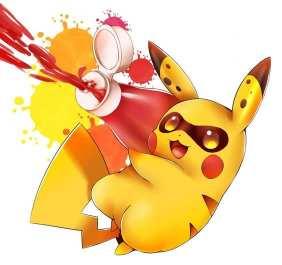 splatoon anime pikachu