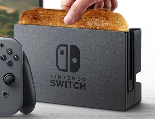 Nintendo Switch meme tostadora