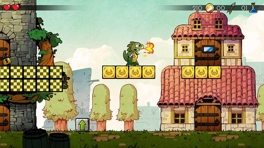 Los trepidantes gameplays de Wonder Boy: The Dragon's Trap