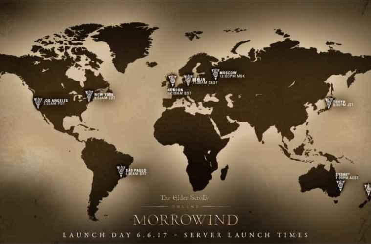 horario de lanzamiento de the elder scrolls online morrowind