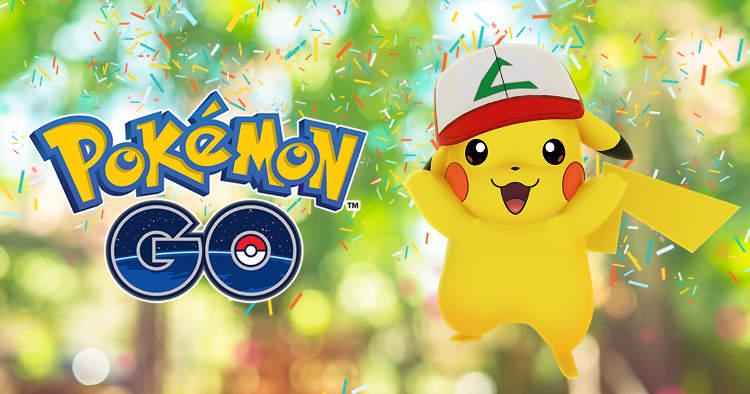 El evento del aniversario de Pokemon Go es un Pikachu especial