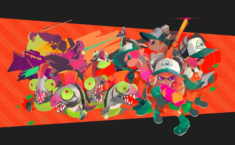 modo salmon run de splatoon 2