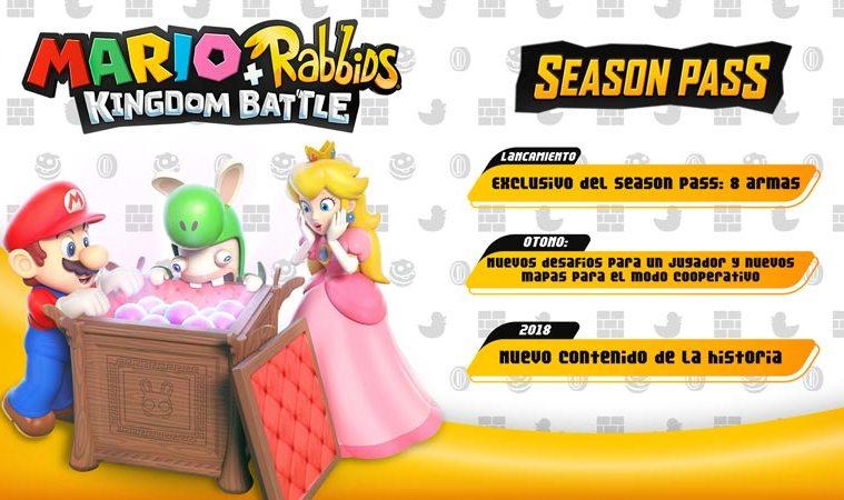 Mario + Rabbids Kingdom Battle tendrá pase de temporada