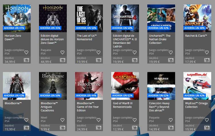 juegos exclusivos de PS4 baratos
