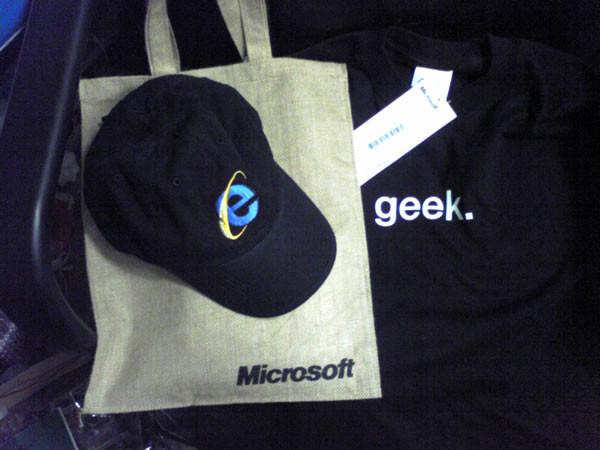 MS謹製 IEキャップ、麻袋、geek Tシャツ