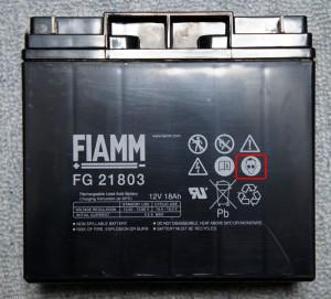 FIAMM FG21803 側面 タモさん