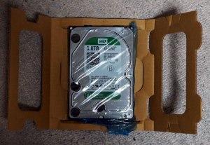 Buffshop HDD 梱包 保護材 開いたところ