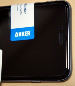 Anker ガラスフィルム エッジ部分・上