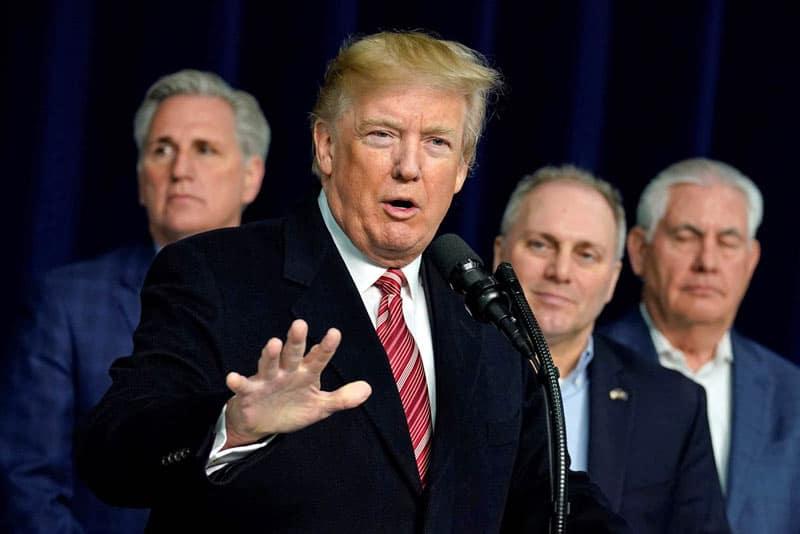 """Trump s'en prend aux immigrants en provenance de """"pays de merde""""."""