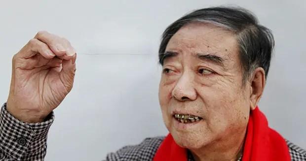 Longest eyebrow hair - Zheng Shusen