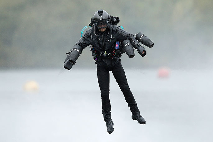 Richard Browning in flight