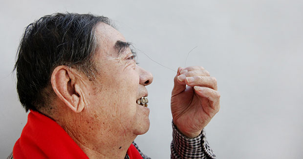Longest eyebrow hair - side view