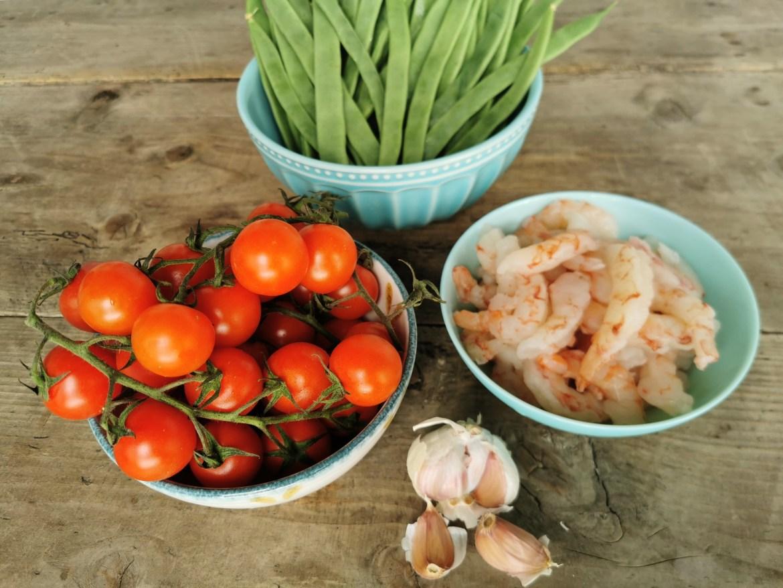 judias salteadas con tomates confitados