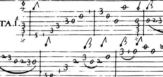 Lezione di chitarra: leggere la tablatura