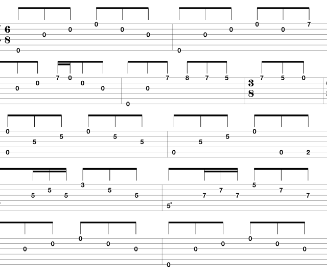Easy Guitar Tabs For Popular Songs Png