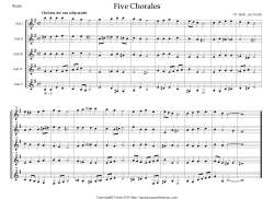 Five Chorales by Bach S preview