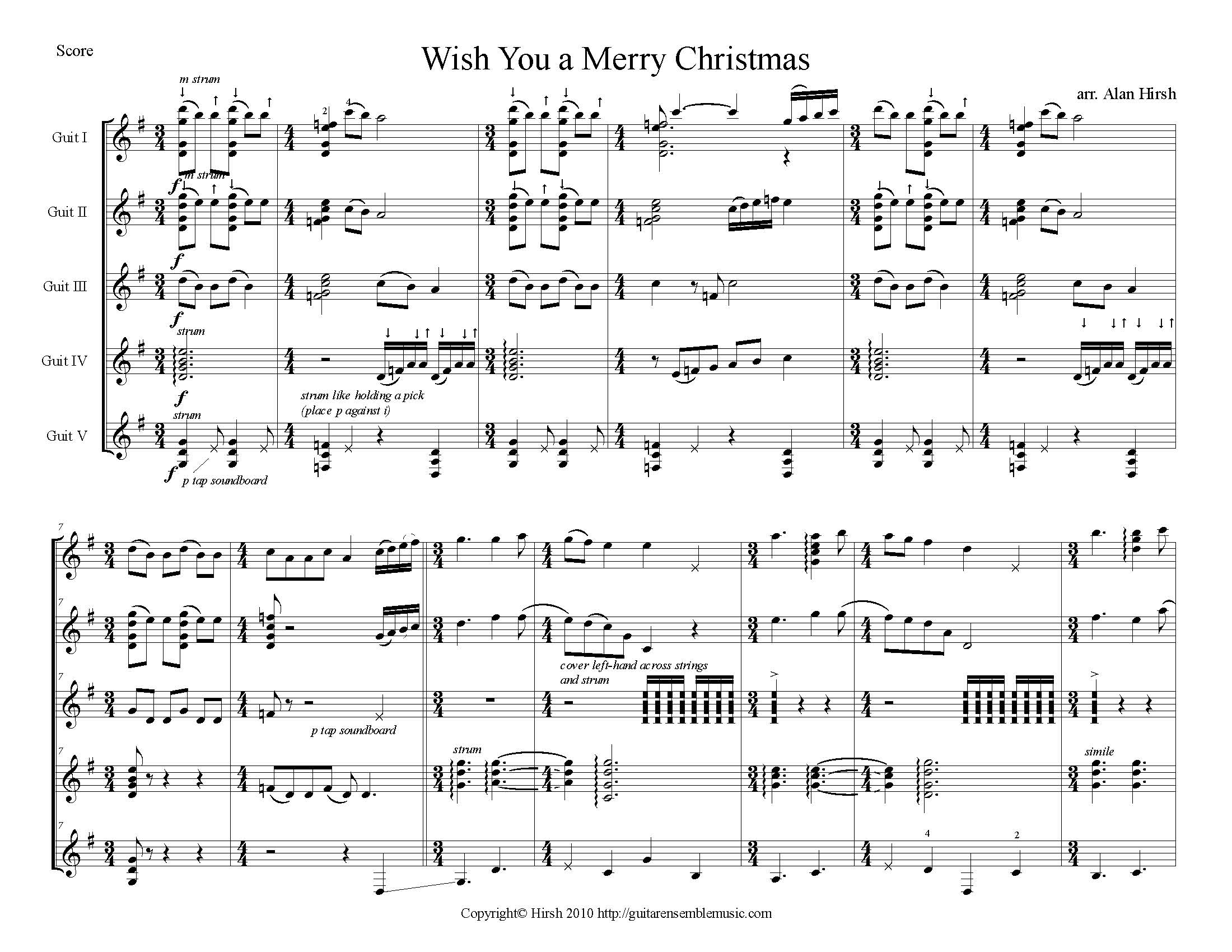 Wish You A Merry Christmas M