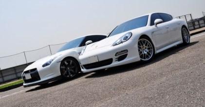 –雙白勁駒– Nissan R35 GTR & Porsche Panamera 同場開箱拍攝