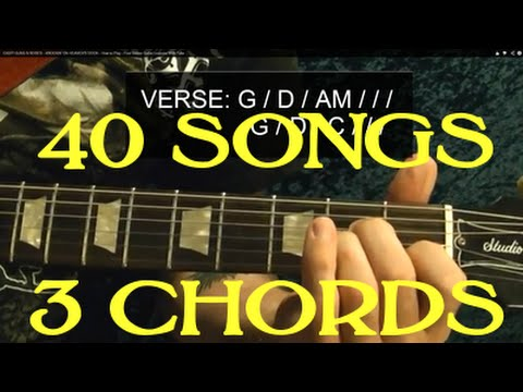 40 EASY Rock Songs, THREE Chords! – Guitar Lesson | Guitar Grotto