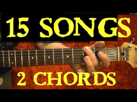 2 Chords – 15 EASY Songs – Guitar Lesson | Guitar Grotto