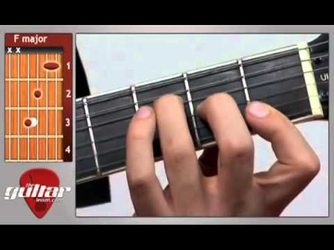 Learn Guitar: How to Play an F Major Chord HD 2015 | Guitar Grotto