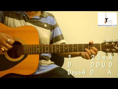 Free Falling Guitar Lesson With A Cool Strumming Pattern Www
