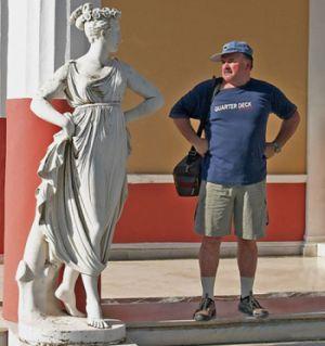 estatua turista