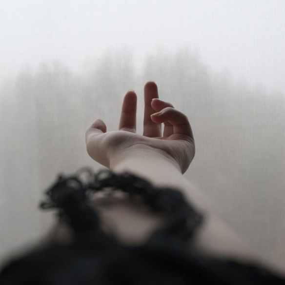 mano en la niebla