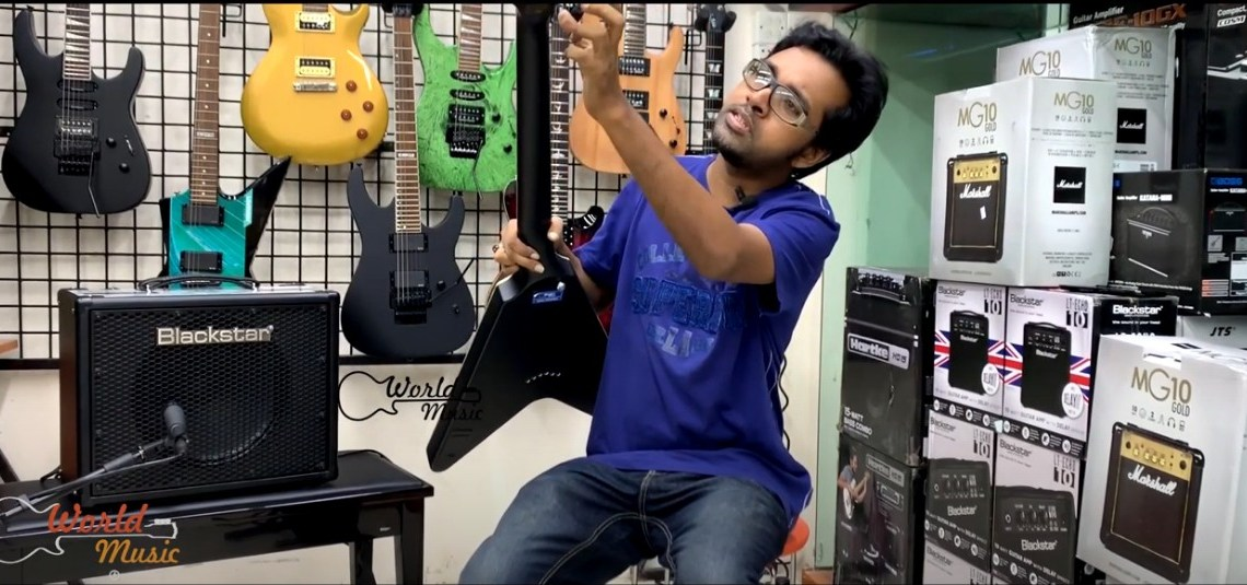 Schecter V1 platinum Review by Sazzad Arefeen in Bangla