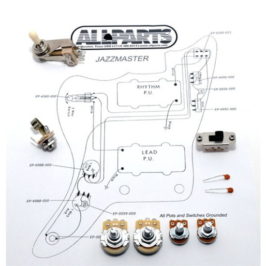 guitar patrol  allparts allparts ep4135000 wiring kit for