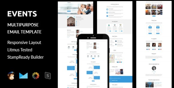 Vamp - Multipurpose Responsive Email Template With Stamp Ready Builder Access - 3