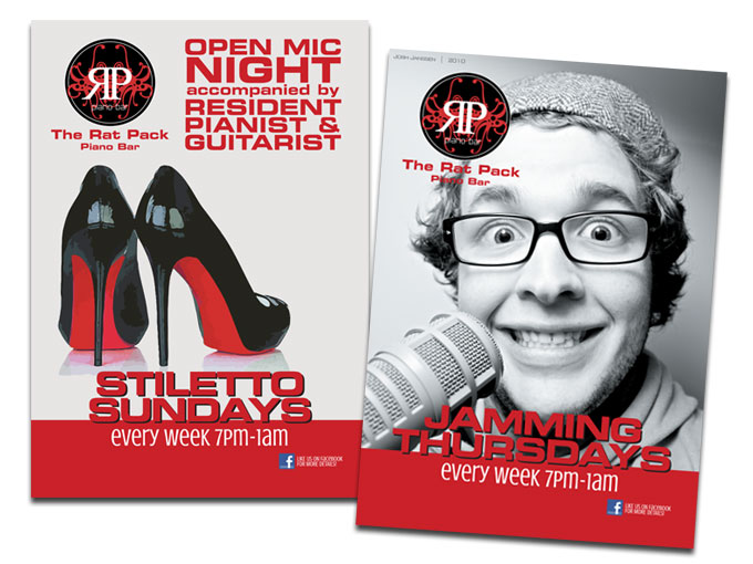 Events' posters for The Ratpack Pianobar