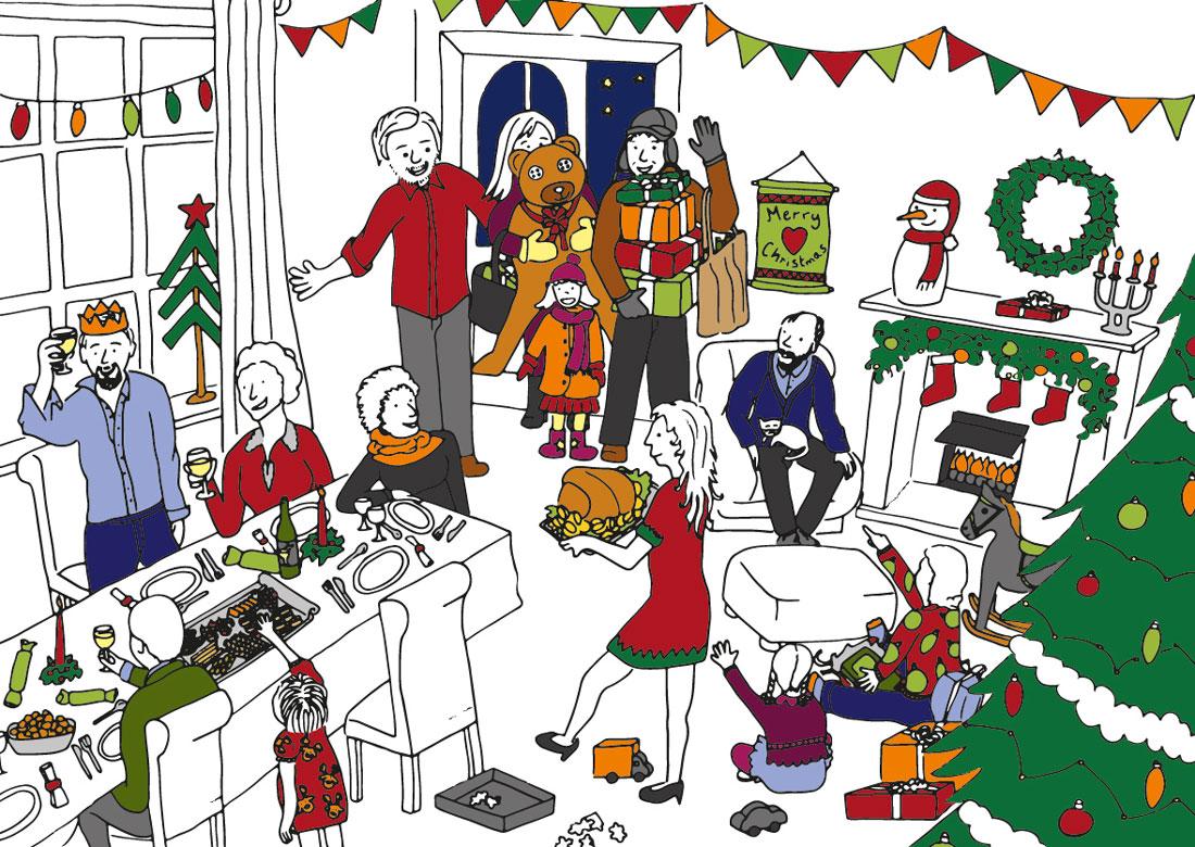 Loft Boarding Scotland - Make room for ChristmasIllustration
