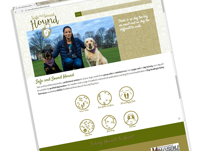 Website design for Safe and Sound Hound